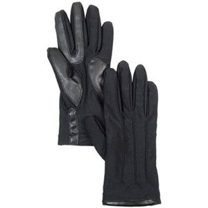 Isotoner Stretch Leather Tech Gloves Black
